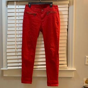 Michael Kors red skinny jeans